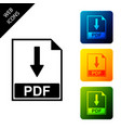 pdf file document icon isolated on white vector image