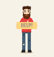 Poor Beggar vector image