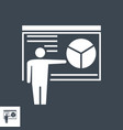 presentation related glyph icon vector image