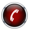 Red honeycomb phone icon vector image vector image