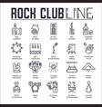 set rock club thin line icons pictograms vector image vector image
