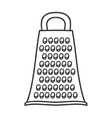 silhouette monochrome with contour grater vector image