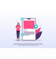 social media concept with tiny people can use for vector image