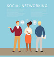social networking and communicating people concept vector image vector image