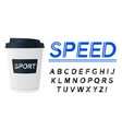 sport modern italic alphabet font capital letter vector image
