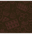 sweet chocolate doodle sketch icons seamless vector image vector image