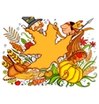 Thanksgiving Doodle vector image vector image