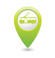trolleybus icon green map pointer vector image vector image