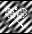 two tennis racket with ball sign icon vector image vector image