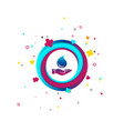 water drop and hand sign save water symbol vector image vector image
