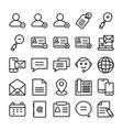 web design line icons 5 vector image