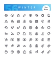 Winter Line Icons Set vector image vector image