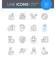 zero waste - modern line design style icon set vector image