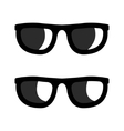 black sunglasses icons set vector image