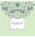 Decorative floral card vector image