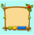 cute cartoon game design interface vector image