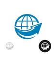 Globe with arrow logo vector image