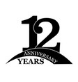 12 years anniversary flat simple design