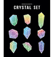 80s crystal set of colorful icons and symbols vector image vector image