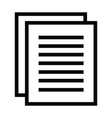 a copy of document paper icon with outline style vector image