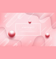 abstract pink background with beautiful pearls vector image vector image