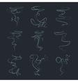 Aroma vapor trail steam smell odor vector image vector image