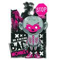 bad monkey vector image vector image