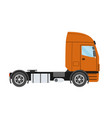 big commercial semi truck trailer truck in flat vector image vector image