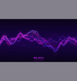 big data violet wave visualization futuristic vector image vector image
