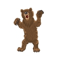 Brown bear stands snarling aggressive vector image vector image