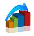 business rising progress graph bar vector image vector image