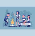 campfire outdoor fun vector image