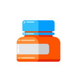 can pills icon in flat style vector image vector image