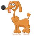 Cartoon adorable dog posing vector image vector image