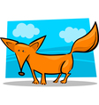 cartoon of red fox vector image