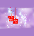 christmas new year discount price and sale the vector image