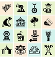 Circus icons set black vector image vector image