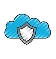 cloud shield protection secure system technology vector image vector image