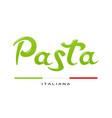 concept for italian pasta vector image