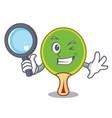 detective ping pong racket character cartoon vector image vector image