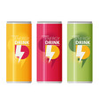 energy drink design over white background vector image vector image