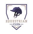 equestrian club logo design sports club derby vector image