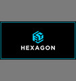 fc hexagon logo design inspiration vector image vector image