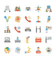 flat icon pack of human resource vector image vector image