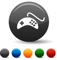 Gamepad icons vector image