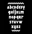 hand drawn bold font editable alphabet vector image