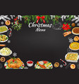 hand-drawn chalk restaurant festive menu template vector image vector image