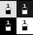 hand sanitizer bottle icon isolated on black vector image