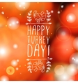 Happy turkey day - typographic element vector image vector image