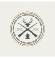 Hunting Vintage Emblem with Guns and Dog vector image vector image